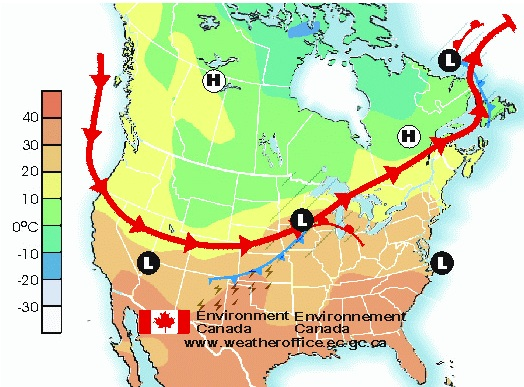 Weather Map Ontario Ontario Great Lakes Region   ACER ACRE